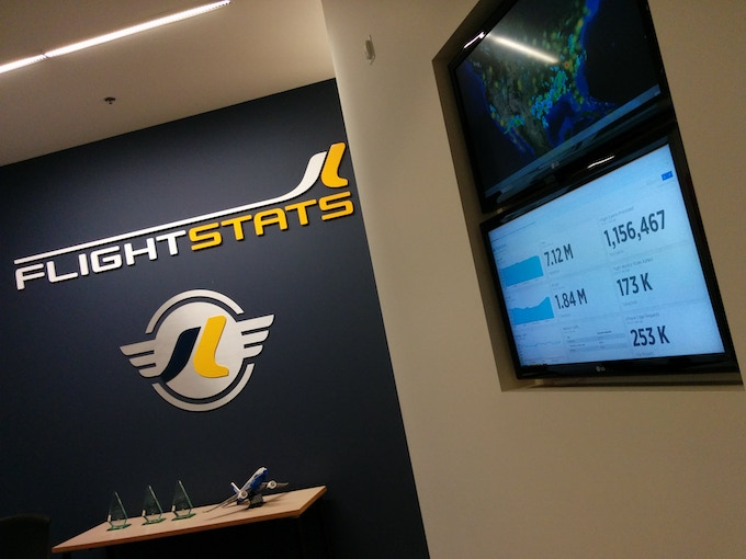 Screensaver Ninja in a very slick permanent dashboard screen at FlightStats. They know a thing or two about stats.