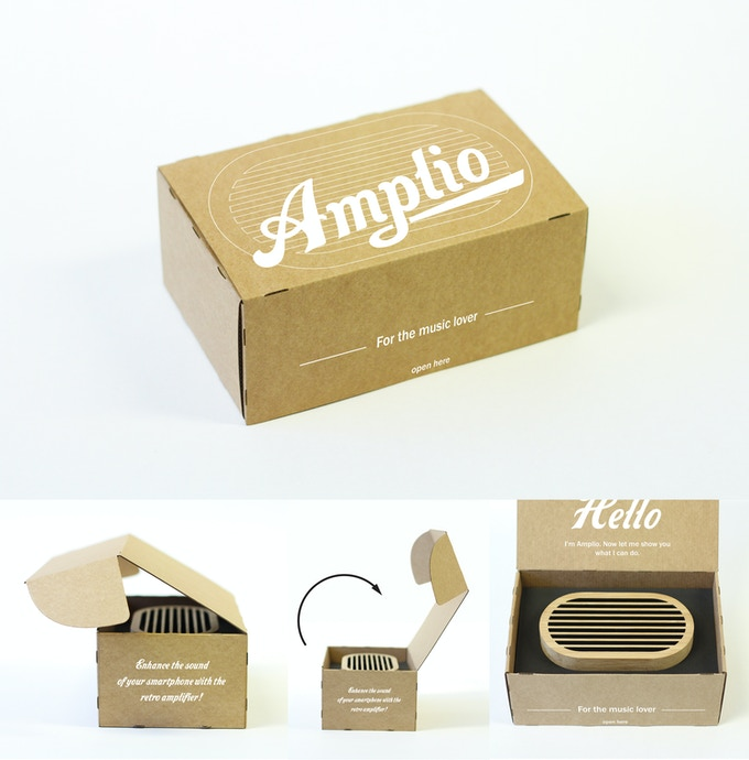 the packaging prototype for Amplio