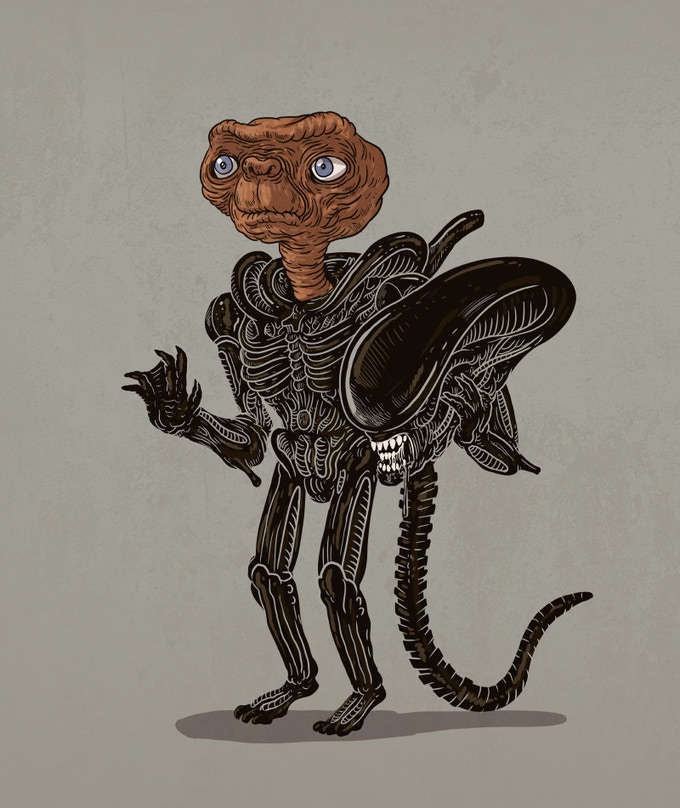 Alien Unmasked - Illustration for the book