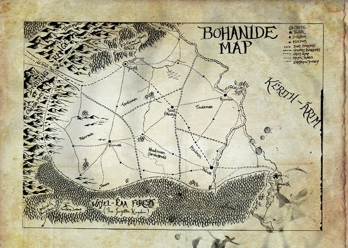 The Bohanide Map ... available as one of the pledges.