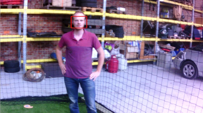 Runing OpenCV face-detection algorithm on the camera feed