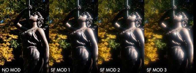 CM33 prototype using versions of SF Mod of increasing intensity