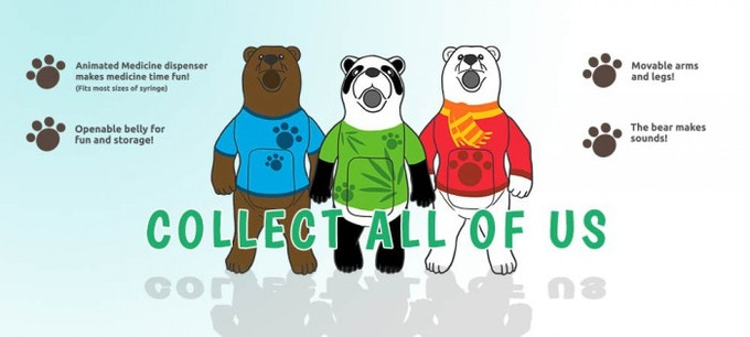 The three Bearsplus characters....Guess what? they have no names yet, so suggest names for them!