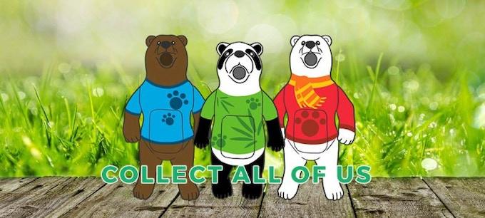 The three Bearsplus characters