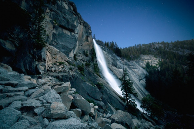 Nevada Fall at dawn in Yosemite National Park
