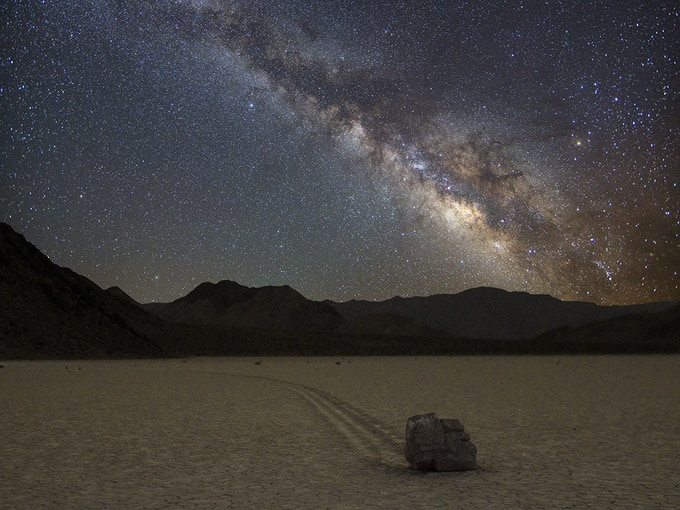 Death Valley Racetrack Playa -- Home of the sliding rocks