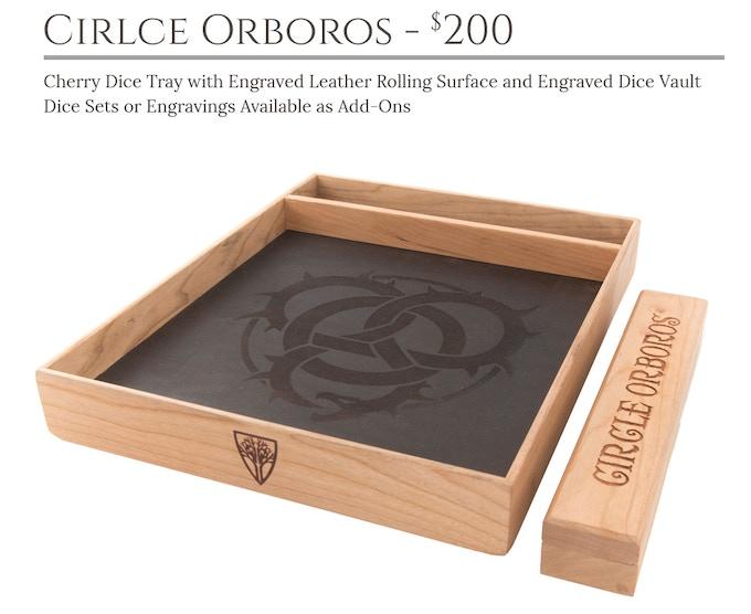 Circle Orboros Dice Tray System: Cherry