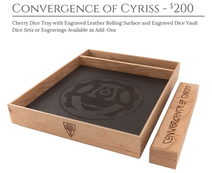 Convergence of Cyriss Dice Tray System: Cherry