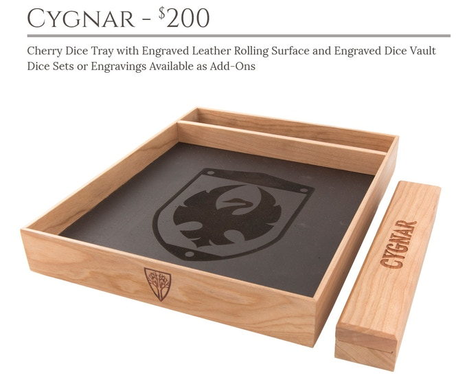 Cygnar Dice Tray System: Cherry