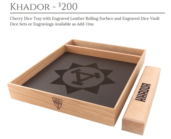Khador Dice Tray System: Cherry