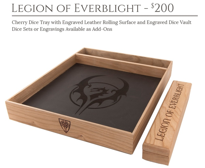Legion of Everblight Dice Tray System: Cherry