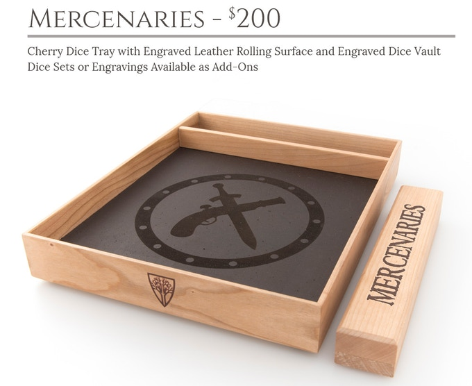 Mercenaries Dice Tray System: Cherry