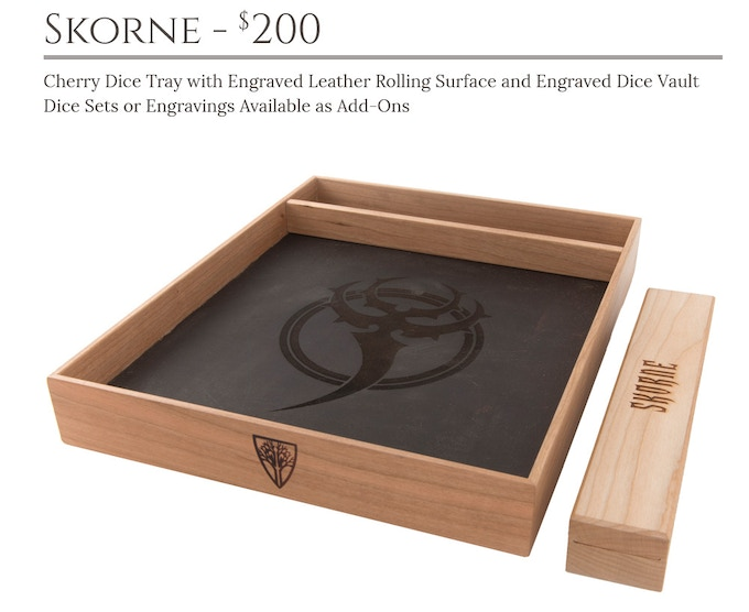 Skorne Dice Tray System: Cherry