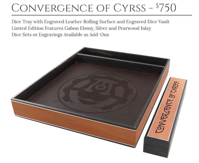 Convergence of Cyriss Dice Tray System: Masterwork