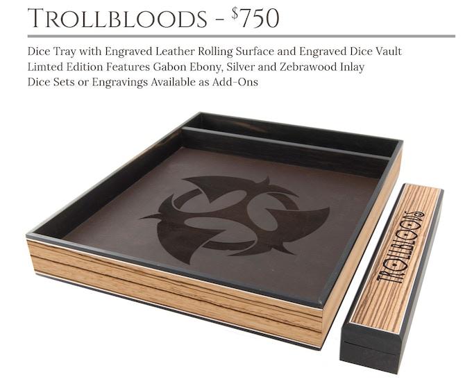Trollbloods Dice Tray System: Masterwork