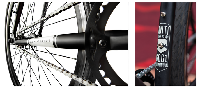RUST-STOPPING FRAME + CHAIN - Leave it outside during a monsoon -  Invincible's 6061- aluminum frame and zinc- coated chain will stop rust.