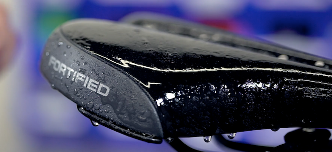 WEATHERPROOF SADDLE - Don't let the rain ruin your ride:  Invincible's ergonomically- designed seat fends off water so  you stay dry.