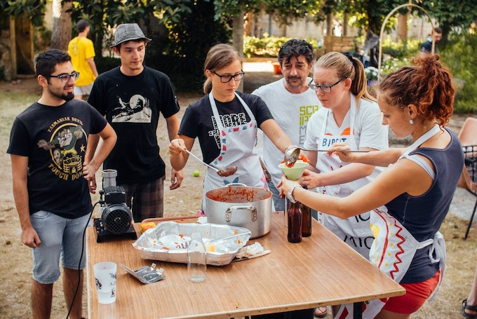 Volunteers involved in the Food Revolution project