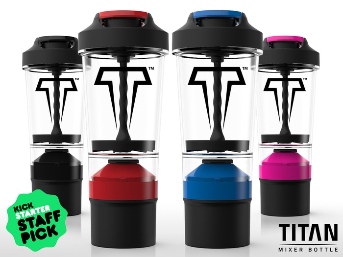 No more shaking, clumps, or mess! TITAN Mixer bottle is the world's first no-shake, easy-to-clean mixer bottle.
