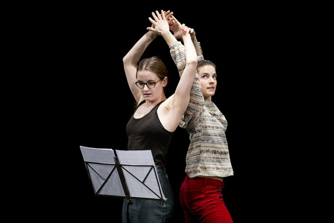 Nora performs 'Eleanor And Flora Music' by Jonathan Burrows and Matteo Fargion. Photo Camilla Greenwell