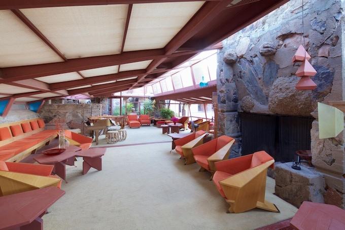 Frank Lloyd Wright's Living Room