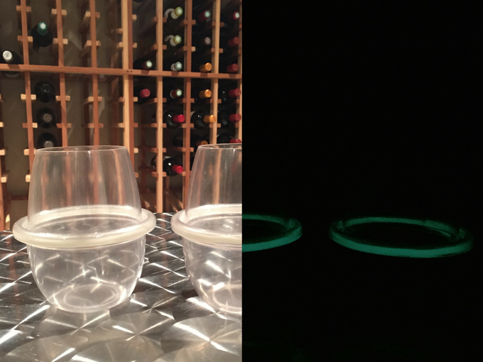 HaloVino glasses can now GLOW! These photos have not been retouched or filtered in ANY way.