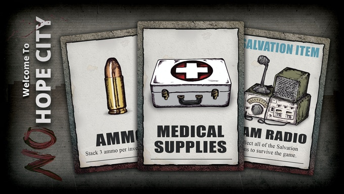 A few item cards for the game.