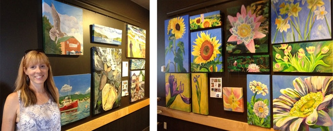 """A couple of past tight display areas that inspired the idea of doing a painting """"mosaic."""""""