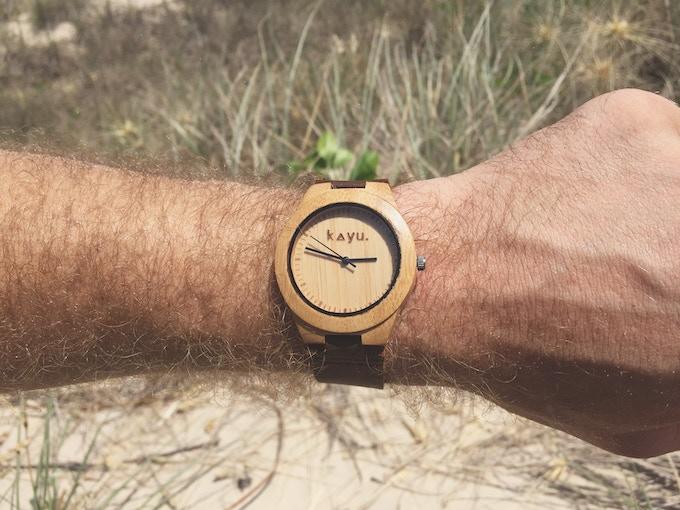 Kayu Earth MMXV Bamboo Watch