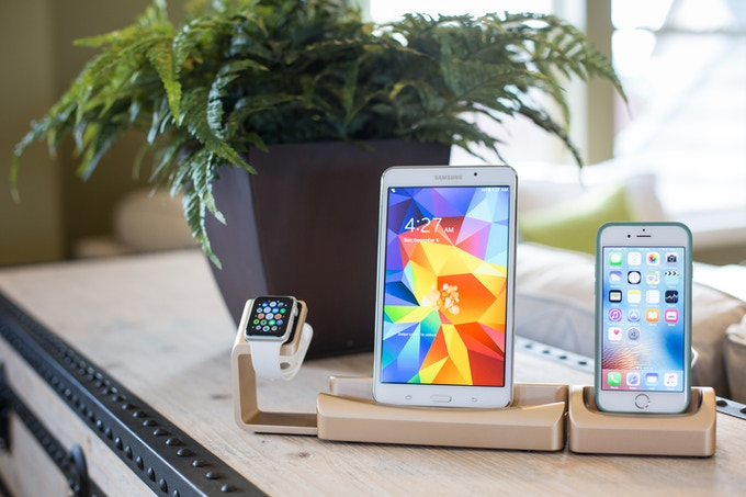 Trio is compatible with your phone, tablet, and smartwatch