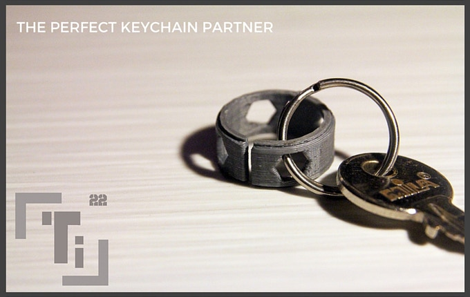 The final 3D Printed Prototype showing that Ti can be carried daily even by those that don't wear rings!
