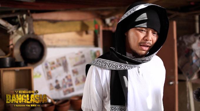 Namewee in traditional Bangladeshi wear 黃明志穿上孟加拉傳統服裝