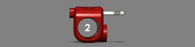 Slide Quarter Stick S into Quarter SI Red