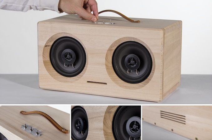 Bluetooth speaker - dimension: 370x200x200 mm
