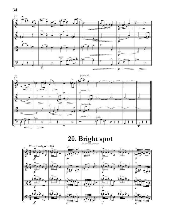 A sample page of score from Volume I.