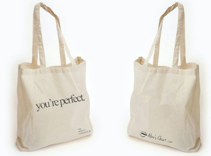 You're Perfect tote bag, front | back