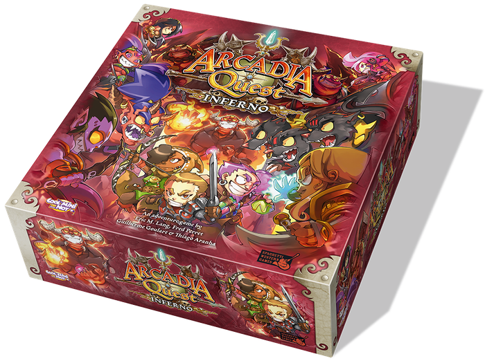 Lead your Guild of heroes into Inferno, fight the demons and loot the Underworld in this action-packed fantasy adventure board game!