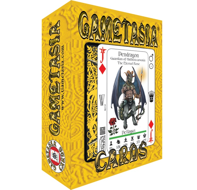 Gametasia Box contains 65 playing cards and 6 Rules Cards!