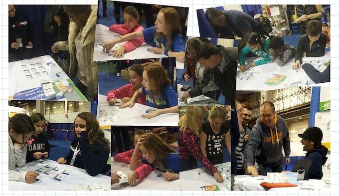 Wordwright was pos·it·ive·ly fun for all at the Chicago Toy & Game Fair