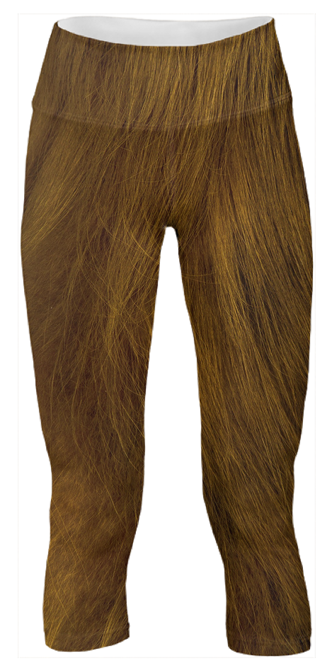 Imagine your favorite taxidermist in these furry stylish yoga pants. Or Bigfoot (available in XXXL).
