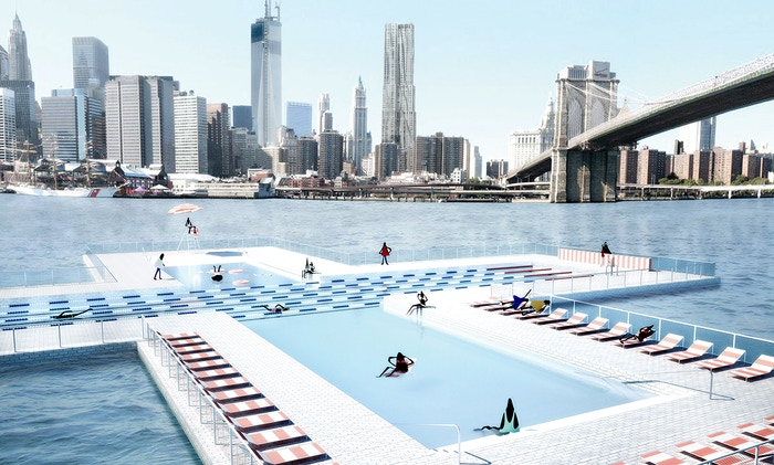 Pool tile by tile by family and playlab kickstarter for Manhattan public swimming pools