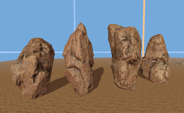 I-shaped rocks can be rotated to show different looking sides.