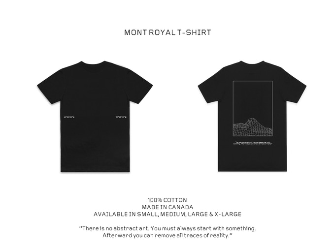 Front : Mont-Royal coordinates // Back : Citation above