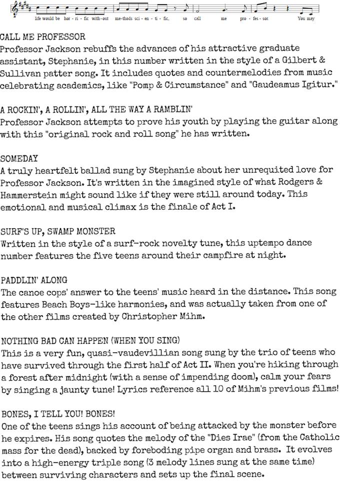 The Monster of Phantom Lake: The Musical! by Christopher R