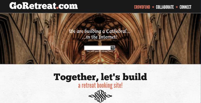 Goretreat.com promotional website