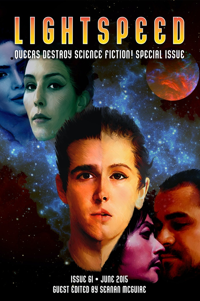 Queers Destroy Science Fiction! is a special issue of the Hugo-winning magazine LIGHTSPEED 100% written—and edited—by queer creators.
