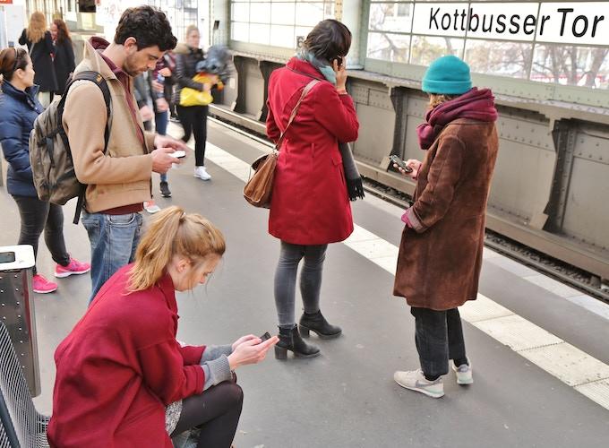 A break while filming our Kickstarter trailer in Berlin.