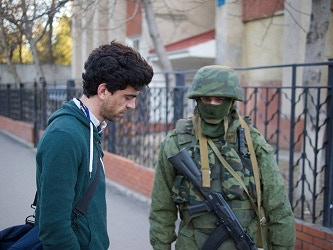 Marc reporting from Ukraine, March 2014.