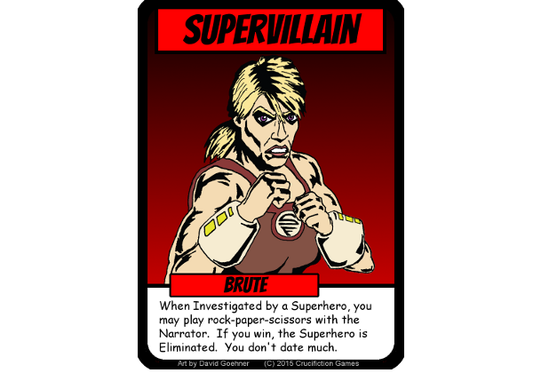 The Brute - Advanced Supervillain With an Attitude!