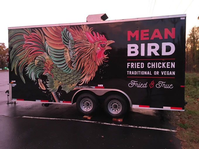 Mean Bird A Fried Chicken Food Truck Traditional Vegan By Mike